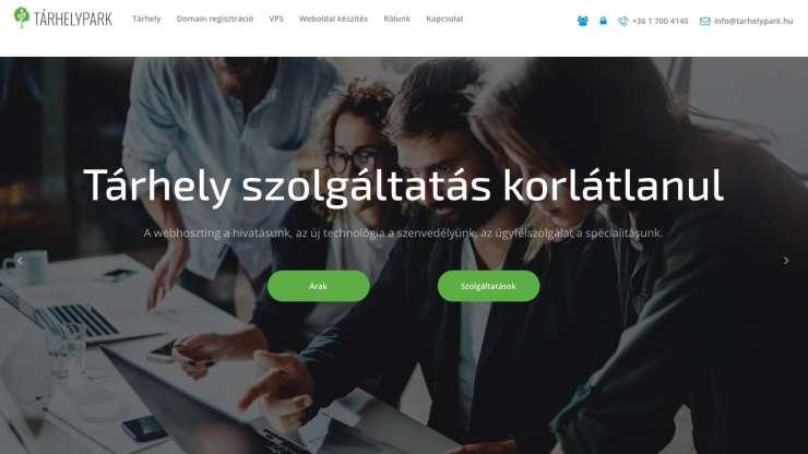 Tárhelypark webdesign